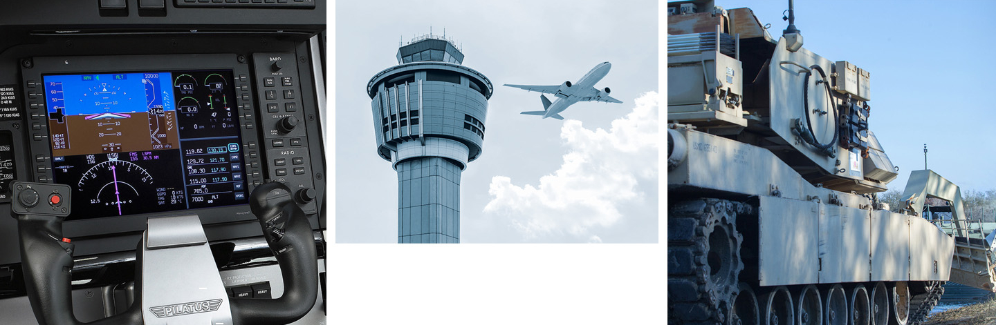 We deliver solutions for Avioincs, Defense & Security and Air Traffic Control
